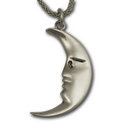 Moon Pendant in Sterling Silver