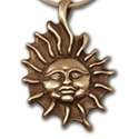 Reversible Sun Pendant in 14k Gold