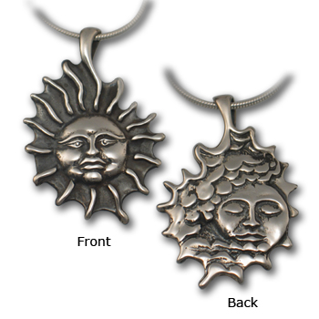 Reversible Sun Pendant in Sterling Silver
