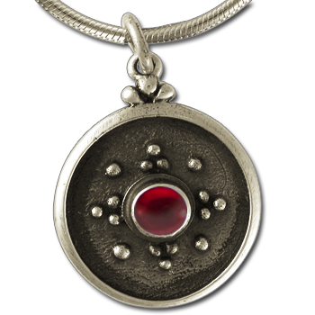 Balinese-Style Gemstone Pendant in Sterling Silver
