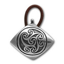 Celtic Hair Tie in Sterling Silver