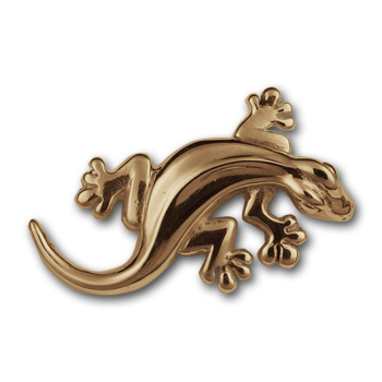Gecko Pin in 14k Gold