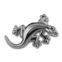 Gecko Pin in Sterling Silver