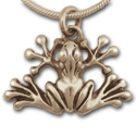 Tree Frog Pendant in 14K Gold