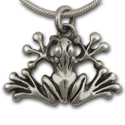 Tree Frog Pendant in Sterling Silver
