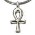 Sm Ankh Pendant in Sterling Silver
