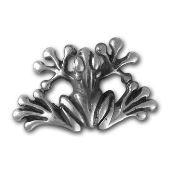 Tree Frog Pin in Sterling Silver