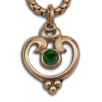 Victorian-Style Pendant in 14k Gold