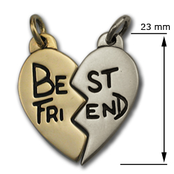 Best Friends Pendant in White & Yellow Gold