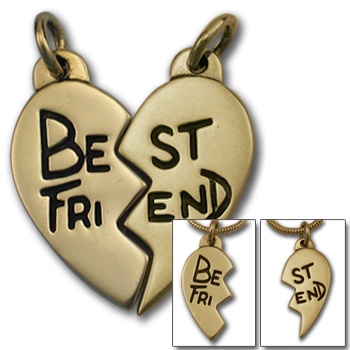 Best Friends Pendant in 14K Gold