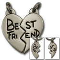 Best Friends Pendant in Sterling Silver