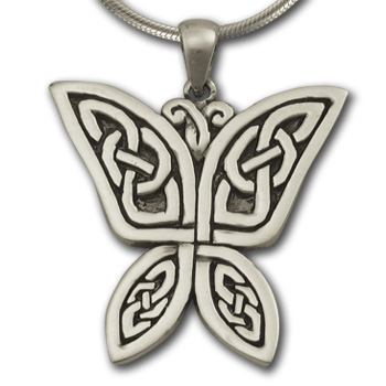 Celtic Butterfly Pendant in Sterling Silver