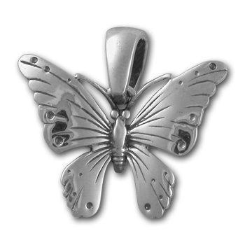 Butterfly Pendant in Sterling Silver