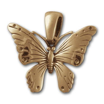 Butterfly Pendant in 14K Gold
