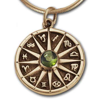 Zodiac Pendant in 14k Gold
