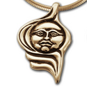 Moonface Pendant in 14K Gold