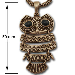 Owl Pendant in 14k Gold