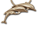 Dolphin Pendant in 14k Gold