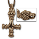Thors Hammer (Wolf) Pendant in 14K Gold
