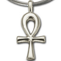 Lg Ankh Pendant in Sterling Silver