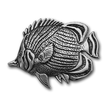 Butterflyfish Pin in Sterling Silver