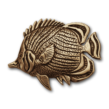 Butterflyfish Pin in 14K Gold