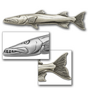 Barracuda Pin in Sterling Silver
