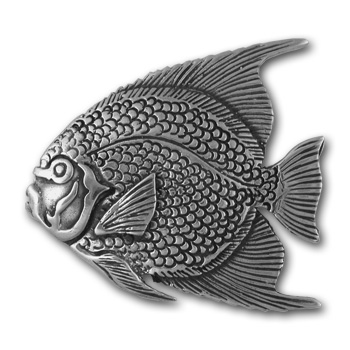 Angel Fish Pin in Sterling Silver
