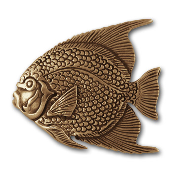 Angel Fish Pin in 14K Gold