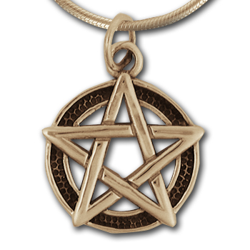 Pentagram Pendant (Lg) in 14k Gold