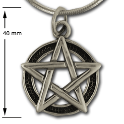 Pentagram Pendant (Lg) in Sterling Silver
