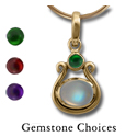 Gemstone Pendant in 14k Gold