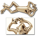 Fanciful Frog Pin in 14k Gold