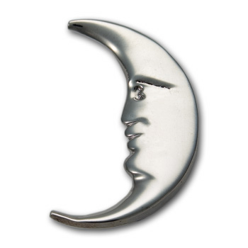Moon Pin in Sterling Silver
