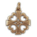Knight Templar Cross Pendant in 14k Gold