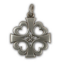 Knight Templar Cross Pendant in Sterling Silver