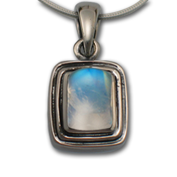 Moonstone Pendant in Sterling Silver