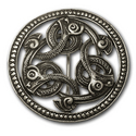 Triple Dragon Brooch in Sterling Silver
