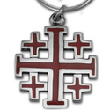 Crusader Cross Pendant in Sterling Silver w/ Enamel