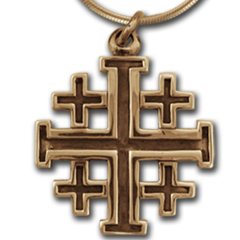 Crusader Cross Pendant in 14K Gold
