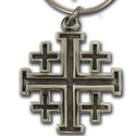 Crusader Cross Pendant in Sterling Silver