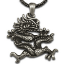 Chinese Dragon Pendant in Sterling Silver