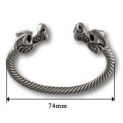 Dragon Torque Bracelet in Sterling Silver