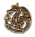 Bold Dragon in 14k Gold