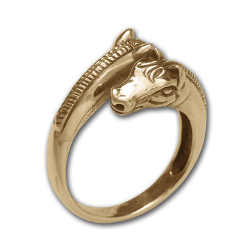 14k Gold Horse Ring