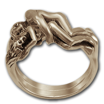 Tantric Lovers' Ring in 14k Gold
