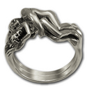 Tantric Lovers' Ring in Sterling Silver