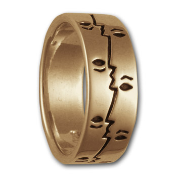 Profile Ring in 14k Gold
