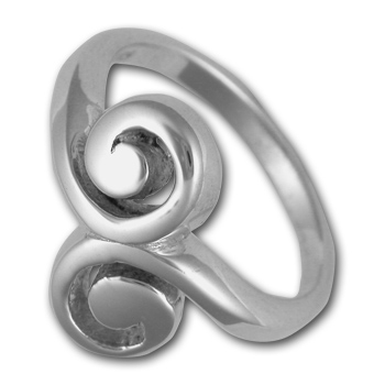 Swirl Ring in Sterling Silver