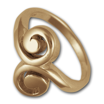 Swirl Ring in 14K Gold